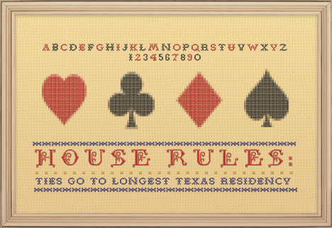 HOUSE RULES: TIES GO TO LONGEST TEXAS RESIDENCY